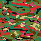 Red, green and black Camouflage  by mikath