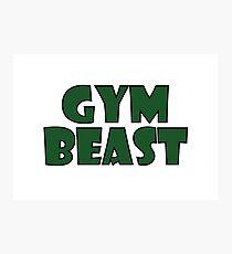 Gym Beast (green) Photographic Print
