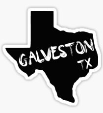 Galveston Texas paint state shape Sticker
