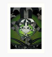 BeetleJack2 - black Art Print