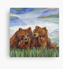 Grizzly bears painting - 2012 Canvas Print
