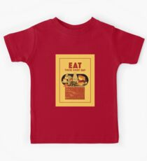 1940 Eat healthy food school poster Kids Clothes