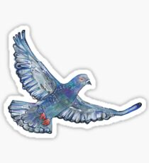 Rock pigeon painting - 2012 Sticker