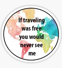 Traveling Sticker