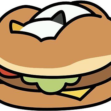 Dottie - Hamburger Cushion by Kimmorz