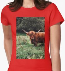 Scottish Cattle Womens Fitted T-Shirt