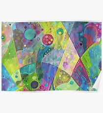 Abstract intersection painting - 2014 Poster