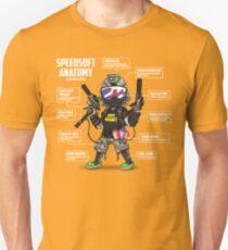 SPEEDSOFT ANATOMY TAPP TEE (White writing) T-Shirt