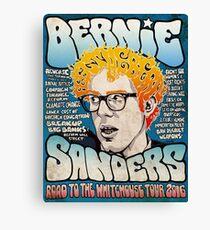 Bernie Sanders Road To The Whitehouse Tour 2016 Canvas Print