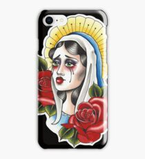 Our Lady Neotraditional Tattoo Painting iPhone Case/Skin