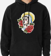 Our Lady Neotraditional Tattoo Painting Pullover Hoodie
