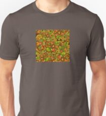 Bright background with diverse leaves and flowers Unisex T-Shirt