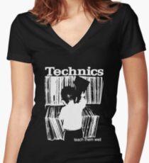 technics 1 Women's Fitted V-Neck T-Shirt