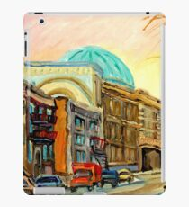 QUEBEC PAINTING BY QUEBEC ARTIST BARON BYNG HIGH SCHOOL MONTREAL CANADIAN ART iPad Case/Skin