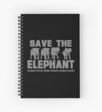 SAVE THE ELEPHANT Spiral Notebook