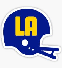 Los Angeles Blue & Yellow Football Team - Blue Helmet Sticker