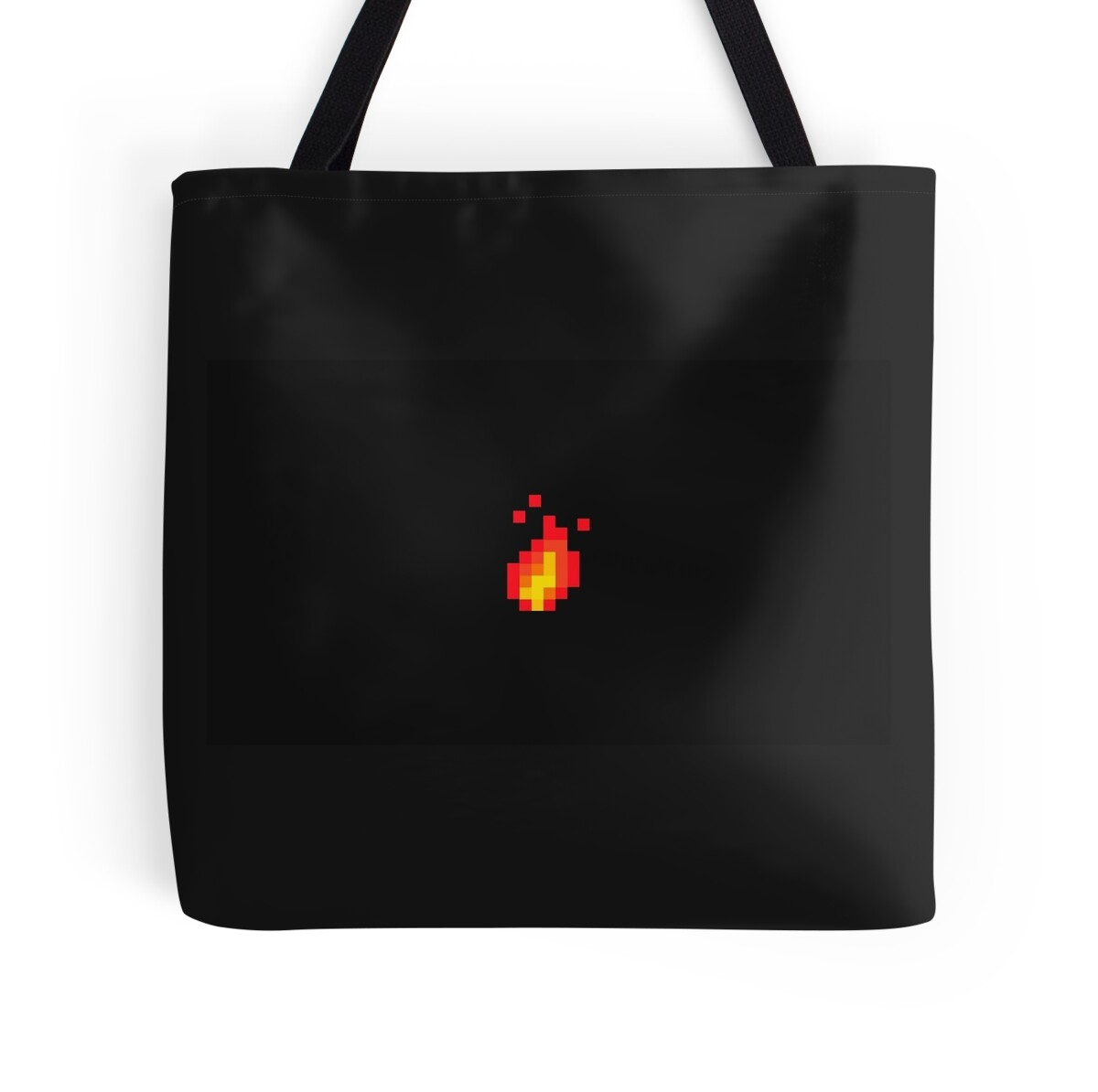 Quot Fire Pixel Art Quot Tote Bags By Mekook Redbubble
