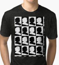 Marie Curie Silhouette Pop Art Tri-blend T-Shirt
