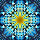 Bright star in a blue patterns environment by walstraasart