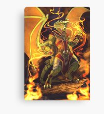 Argonian Flames Canvas Print