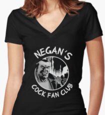 NEGAN'S COCK FAN CLUB Women's Fitted V-Neck T-Shirt