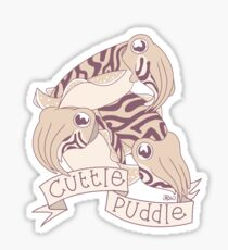 Cuttle puddle Sticker