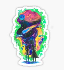 The Universe is a Crazy Chaotic place Morty Sticker
