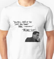 Michael Scott's Inspirational Quote (White) Unisex T-Shirt