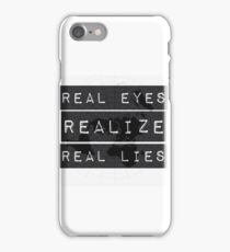 Flat earth,real truth, iPhone Case/Skin