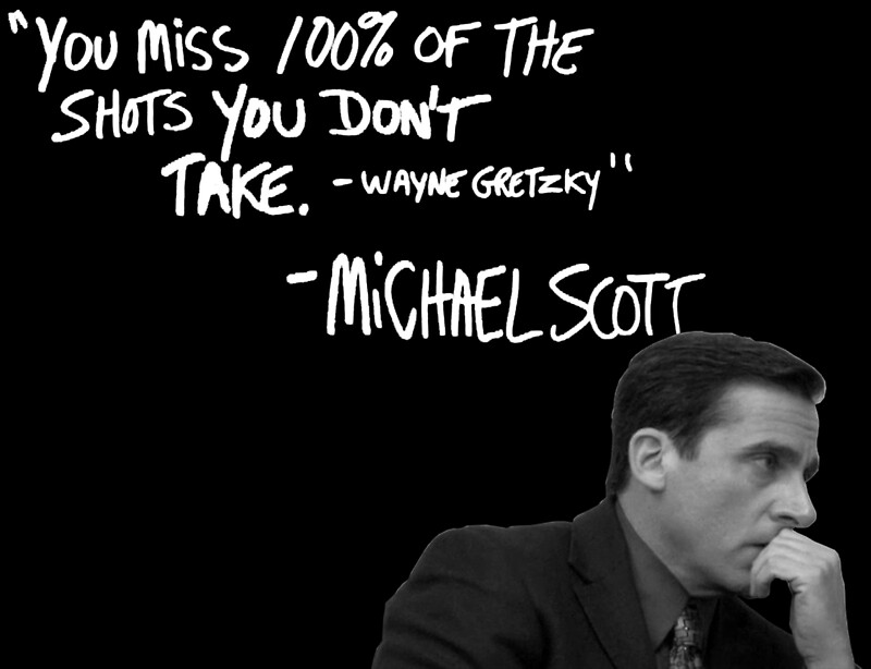 """""""Michael Scott's Inspirational Quote (Black)"""" Stickers by ..."""