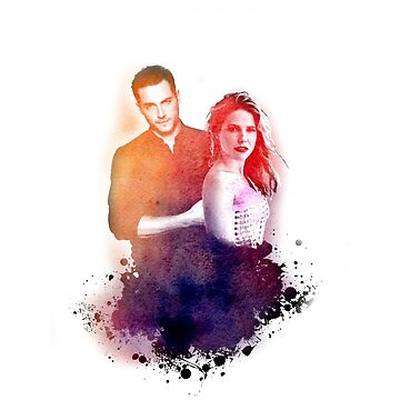 Sophia Bush and Jesse Lee Soffer Watercolor by sprinkleofmia