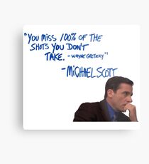 Michael Scott's Inspirational Quote (Colour) Metal Print