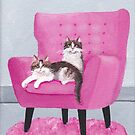 The Pink Chair Cats by Ryan Conners