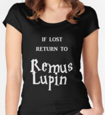 If Lost Return to Remus Lupin  Women's Fitted Scoop T-Shirt