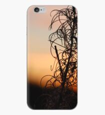 Leafy Sunset Silhouette iPhone Case