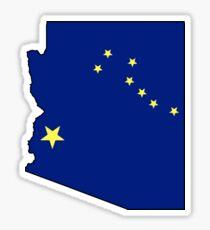 Alaska flag Arizona outline Sticker
