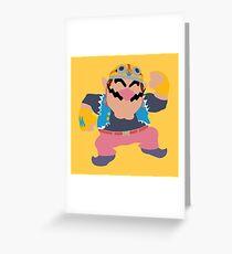 Smash Bros - Wario Greeting Card