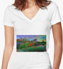 For I Know The Plans I Have For You Fitted V-Neck T-Shirt