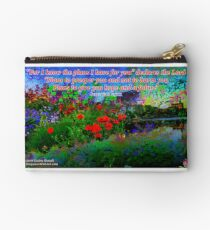 For I Know The Plans I Have For You Zipper Pouch