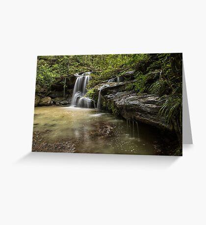 Waterfall Oasis Greeting Card