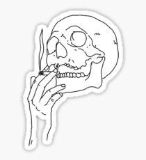 Skull sticker Sticker