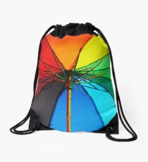 Jenny Rainbow Umbrella. Color your Day Drawstring Bag