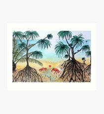 Crab Love on the Beach Art Print