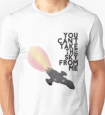 You Can't Take the Sky From Me - Serenity and the Stars (Transparent Version) Unisex T-Shirt