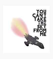 You Can't Take the Sky From Me - Serenity and the Stars (Transparent Version) Photographic Print