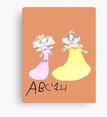 Princesses - ABC '14  Canvas Print