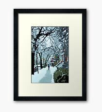 Montreal soft winter day Framed Print