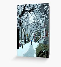 Montreal soft winter day Greeting Card