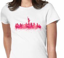New York City Skyline Womens Fitted T-Shirt