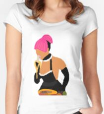 Nicki Minaj: Banana Eater Women's Fitted Scoop T-Shirt